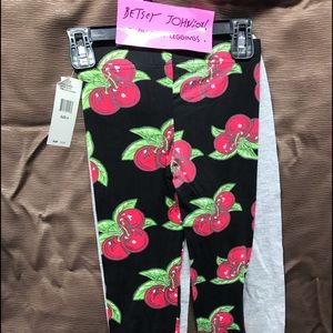 Betsey Johnson Twin Pack Leggings Size 4
